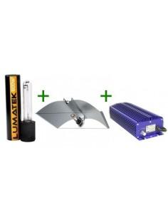 Zelbouwset EVSA Lumatek 600 W Dimmable + Azerwing reflectorkap + Lumatek dual spectrum lamp 600 Watt