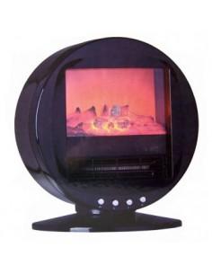 Elektrische kachel met houtvuureffect (zwart)