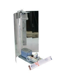 Zelfbouwset 400 W Philips LuxGear + Osram Nav-T super + Spiegelkap
