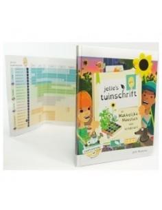 Boek-Jelle's tuinschrift, de Makkelijke Moestuin voor kinderen! + zaaikalender