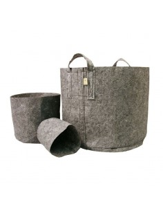 Root Pouch pot grey incl. handvat 250gr/m2 10 st. 30L